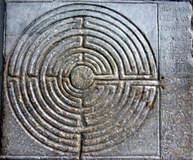 Labyrinth in Lucca - Symbol des Unterwegs-Seins