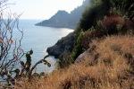 Atemberaubender Blick aufs Meer von der Via Flacca