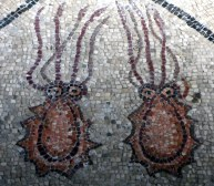 Meerbewohner als Bodenmosaik in Aquileia