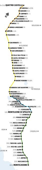 Karte Herbstwanderung Bremerkurse Italien